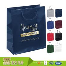 Custom Logo Design Various Colors Fashion Popular Hotstamping Hand Made Paper Bags