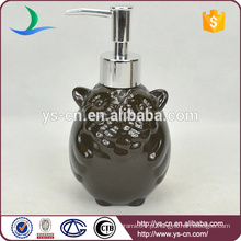 Black Coruja cerâmica garrafa Loção banheiro