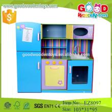2015 novo projeto fingem jogar brinquedos de móveis de cozinha de madeira para crianças