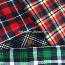 Plaid Flanell Stoff Großhandel Scheck Flanell Stoff für Hemd