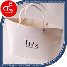 Sacs à provisions imprimés bon marché recyclables de sacs à provisions de papier de logo