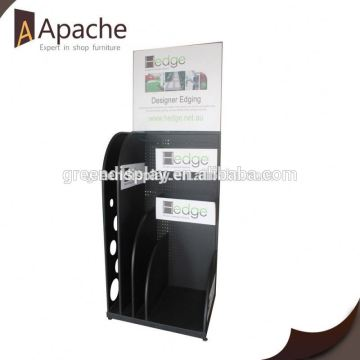 Competitive price plastic bag skin care product display stands