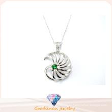 Diseño especial y venta superior colgante encanto plata 2015 P4989