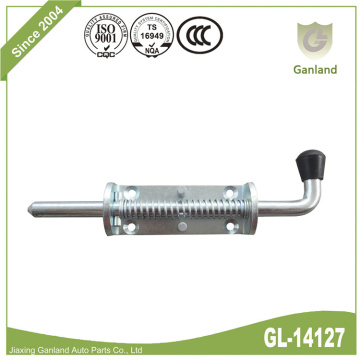 Steel Spring Loaded Bolt Lock Penggantian Black Knob