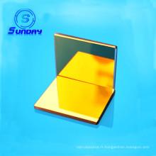 Miroir plat optique avec Golden