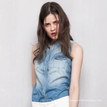 2016 Femmes De Luxe Casual Stylish Fashion Denim Shirt