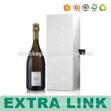 Профнастил Бутылку Тиснение Золотом Белая Коробка Вина Бумажная Упаковывая