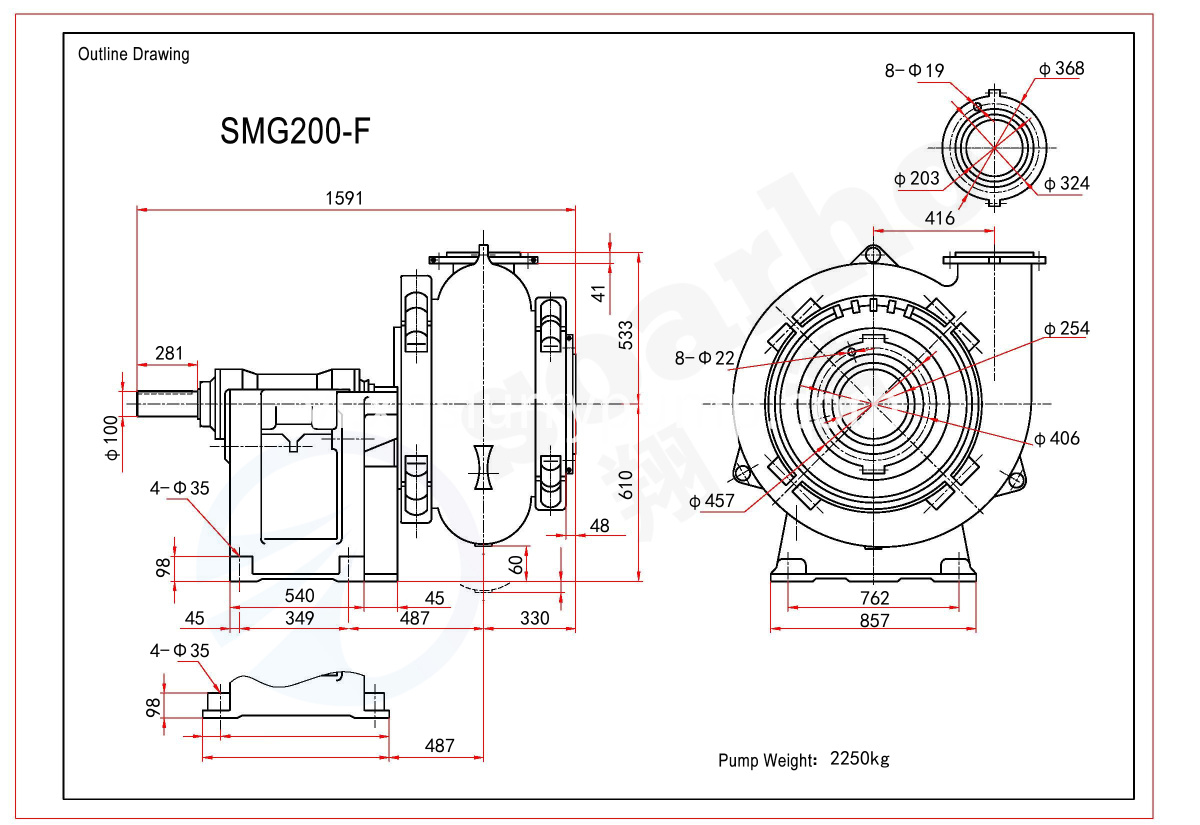 SMG200-F outline drawing