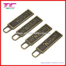 Customized Antique Brass Zipper Puller for Spotrswear