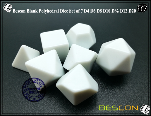 Blank Polyhedral Dice (4)
