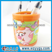 OEM soft pvc personalized pen holder rubber