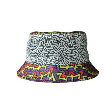 Cotton Twill Lady Sun Hat Bucket Hat with Plain Print (U0053)
