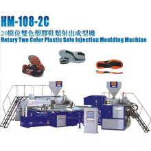 Rotary 2 Color TPU, PVC, Tr Soles Injection Machine