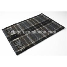 2014 nuevo hilado de los hombres del diseño teñió la bufanda de la cachemira con la franja