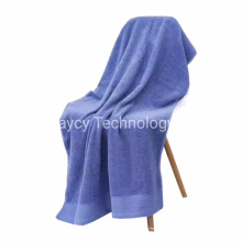 100% Cotton Dyed Yarn and Microfiber Fabric Hooded Towel, Soft Absorbent Oversize Bath Hand Face Towel Top Notch Terry Towel