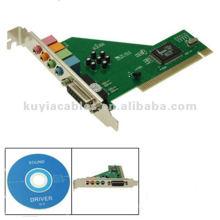 C-Media CMI8738 Placa de Som de 4 Canais PCI