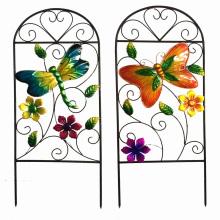 Clôture de fleurs en métal pour la décoration de jardin de printemps