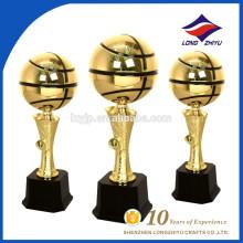 Классический круглый баскетбол металл трофей китайской фабрики