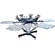 6 цвет 6 станция карусельного футболка шелкография машина для продажи