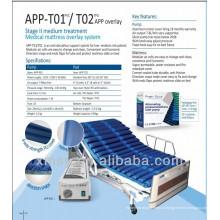 Nylon / PU tira ondulação sistema de colchão de ar para pressão alternada APP-T02