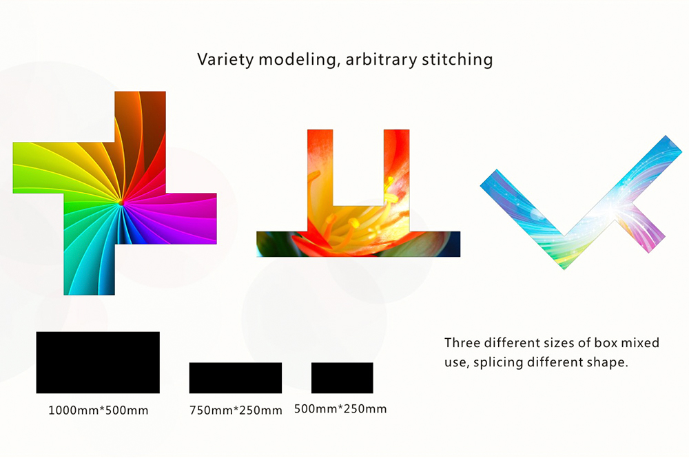 Variety shapes of Indoor Wall Mounted LED P3.9 Display Screen