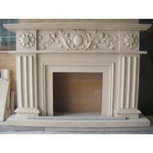 Carved Stone Fireplace Mantel
