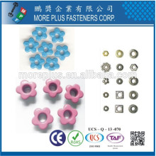 Made in Taiwan Special Colored Fancy Shaped Shoe Lace Eyelets