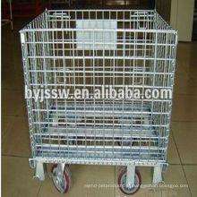 Gaiola de armazenamento galvanizada com rodas