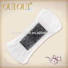Doublure ultra douce de culotte à base de plantes de coton d'oxygène unique avec la puce d'ion / doublure noire de culotte