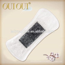 Unique oxygen cotton ultra soft herbal panty liner With ion chip/black panty liner