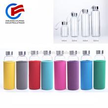 Taza de café de cristal grande de la botella de agua 430ML Taza de consumición al aire libre