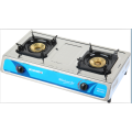 2 Burner Table Top Gas Burner مع غطاء