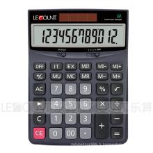 Calculateur de bureau à 12 chiffres à double alimentation avec grand écran LCD (CA1172)