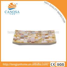 Resin Badezimmer Amenity Dreieck Muschel Muschel Gesicht Handtuch Tablett