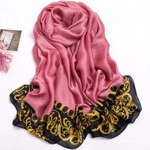High quality print polyester scarf women soft chiffon hijab spring chiffon scarf wholesale