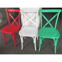 2015 New Design Resin Plastic Crossback Chair
