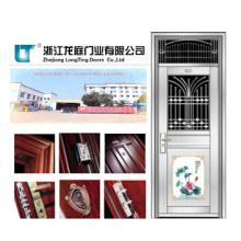 Seguridad Exterior Puerta de acero inoxidable de 201 hojas (LTSS-9018)