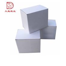 Novo design reciclável melhor preço quadrado branco parede dupla caixa de papelão ondulado