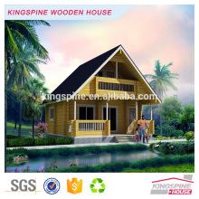 luxuosa casa de campo pré-fabricada de madeira