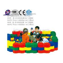 2016 plásticos grandes bloques de construcción de la ciudad para el niño