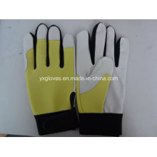 Work Glove-Leather Glove-Pig Grain Leather Glove-Labor Glove-Weight Lifting Glove
