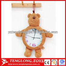 """Горячий подарок малышей подарка 8 """"washable часы плюша с игрушкой медведя"""
