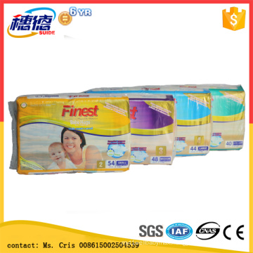 Hot Sale Cheap Soft Disposable Printed Baby Diapers