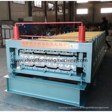 Máquina formadora de rolo de camada dupla de folha de telhado