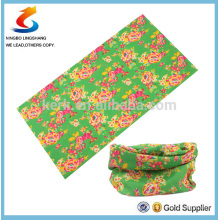 100% Poliéster Multifunções impresso bandana de tubo, bandana de esporte multifuncional, LS bandana