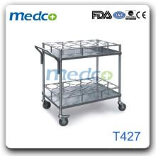 Hospital wire shelf cart T427