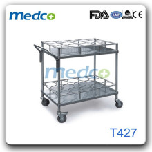 Carrinho de estante de fio hospitalar T427