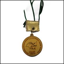 Medalha competitiva dourada com medalha Stampped fita (GZHY-JZ-026)