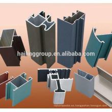 Perfil de la sección de aluminio