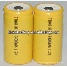 NI-CD Rechargeable Battery SIZE AA 150-1000MAH yellow color PVC